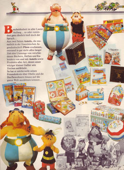 """""""Asterix der Gallier"""", Beilage mit Merchandising-Artikeln zum """"Großen Asterix-Band I"""""""