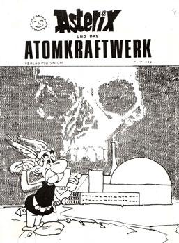 """Raubcomic: """"Asterix und das Atomkraftwerk"""", Cover."""