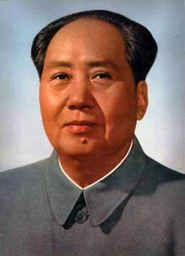 "Offizielles ""one-ear""-Mao-Porträt der 1960er-/1970er-Jahre von Wang Guodong für den Platz des Himmlischen Friedens (Tiananmen-Platz) in Peking"