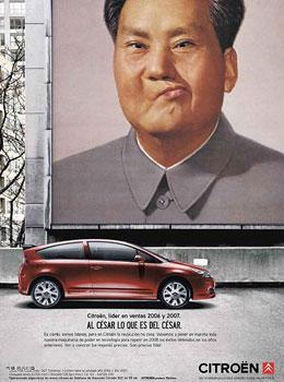 Citroën-Anzeige Mao, Spanien 2007