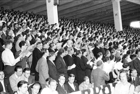 Billy Graham's Audience in Düsseldorf, June 1954