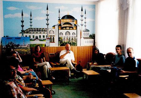 Besuch einer Studierendengruppe der Kirchlichen Hochschule Bethel in einer Bielefelder Moschee