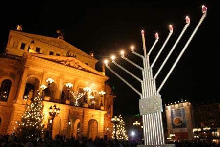 Chanukkafest vor der Alten Oper in Frankfurt am Main, 2008