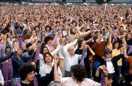 Friedensdemonstration auf dem Evangelischen Kirchentag in Hannover, Juni 1983