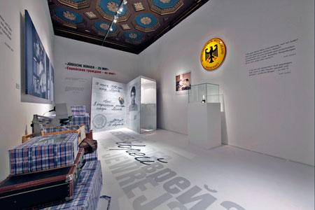 Ausstellungsraum zur Ausreise aus der ehemaligen Sowjetunion