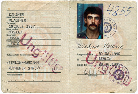 Wladimir Kaminers Aufenthaltserlaubnis für die DDR