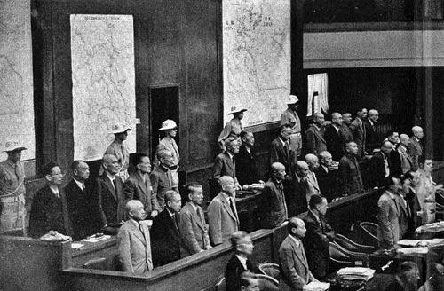 Angeklagte des Internationalen Militärtribunals für den Fernen Osten, Tokio 1946