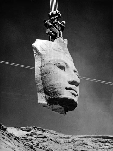 Der Abbau der Tempel in Abu Simbel 1965 (1)