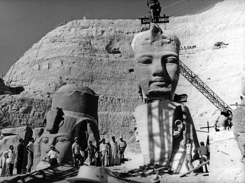 Der Abbau der Tempel in Abu Simbel 1965 (2)
