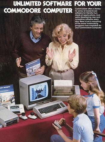 Werbeanzeige der Firma Commodore für den Heimcomputer C 64