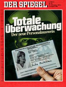 """""""Spiegel""""-Titel vom 8.8.1983."""