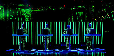 Kraftwerk live, MTV Europe Music Awards, Edinburgh 2003
