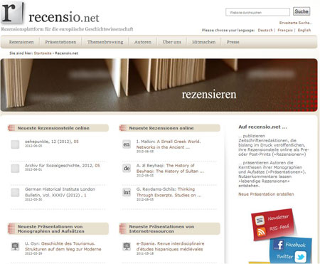 Startseite (Juni 2012)