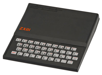 The Sinclair ZX-81. Like the ZX-80, the machine relied on a flat and unresponsive membrane keyboard, inconveniencing typists but contributing to its sleek lines.