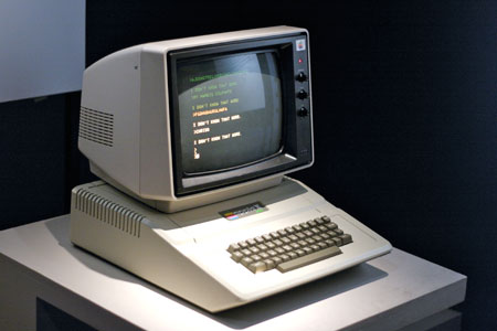 The visual identity of the Sinclair machines contrasts strongly with that of the more robust and far more expensive Apple II, which accommodated a full-sized keyboard. The bulky but tapered 'cheese wedge' appearance was imitated by Sinclair's rival Acorn, which aimed its machines at the upper end of the British market.