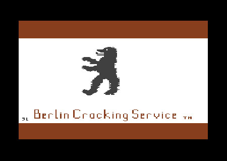 Crack screen of Berlin Cracking Service, 1984