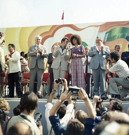 Angela Davis bei den Weltjugendfestspielen, 31. Juli 1973.