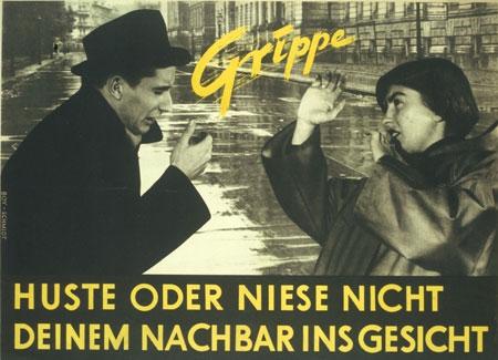 Vorsorge im Nahbereich: Plakat aus der DDR, 1952