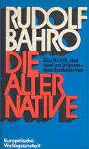 Cover des Buches von Bahro, die Alternative