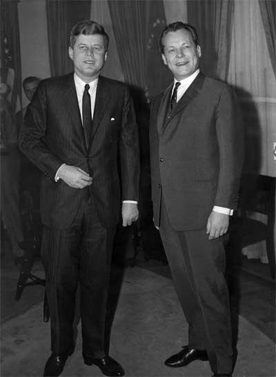 John F. Kennedy und Willy Brandt (März 1961)