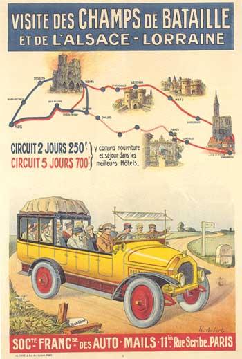 Plakat: Besuch der Schlachtfelder und von Elsass-Lothringen