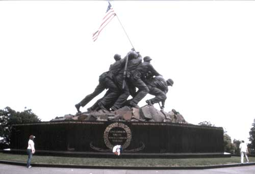 Das US Marine Corps Memorial von 1954 in Arlington (Foto: Kirsch)