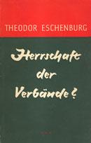 Cover des Buches von Eschenburg, Herrschaft der Verbände?