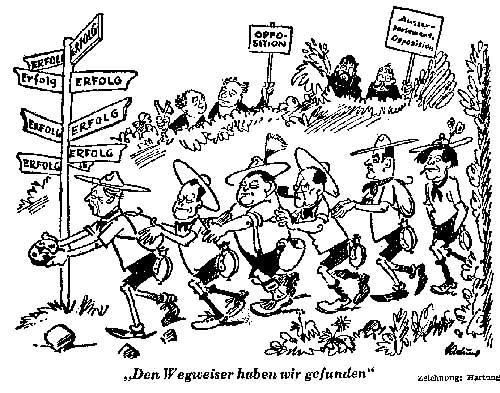 Karikatur von Wilhelm Hartung