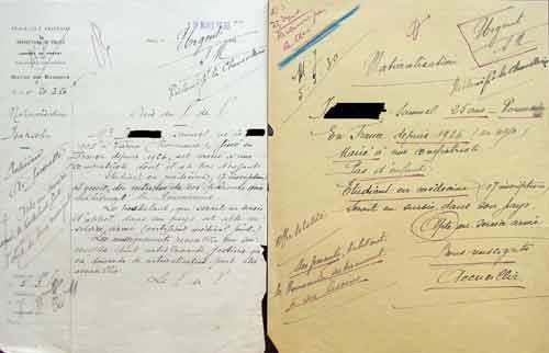 Stellungnahme der Polizeipräfektur zum Einbürgerungsantrag von Samuel I., 19.3.1930