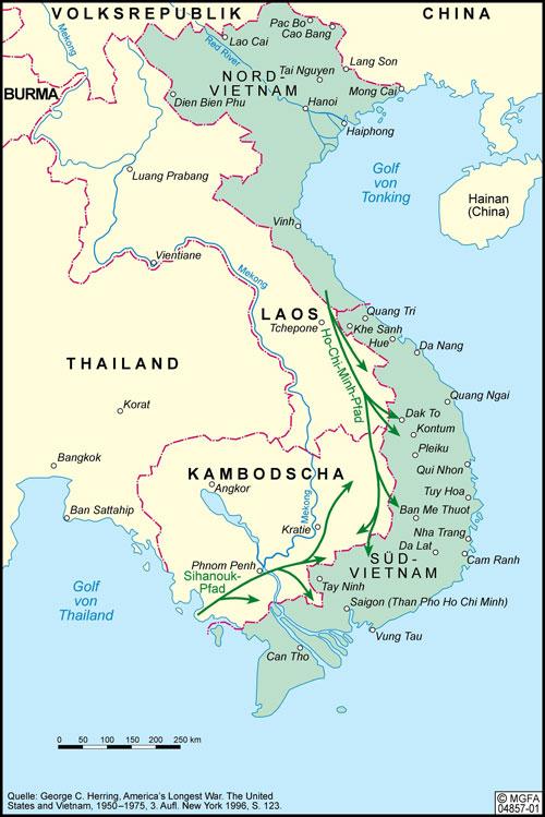 Karte von Vietnam 1964