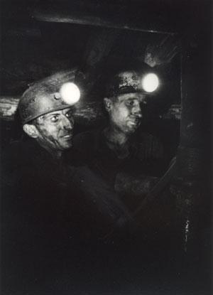 Kohlengrubenarbeiter, Katowice, Polen 1971