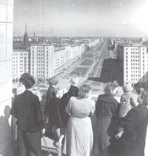 Berlin (East), Stalinallee, view from the top
