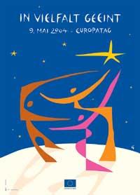 Plakat zum Europatag 2004