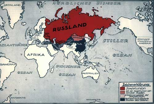 Karte: Die proletarische Großmacht Die Sowjetunion