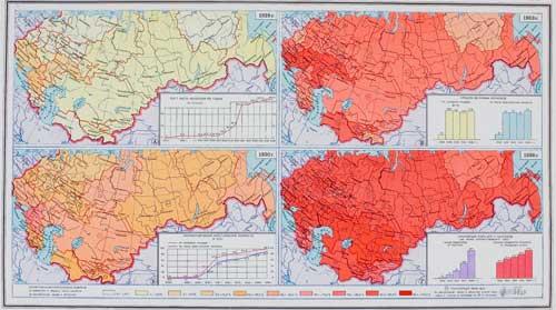 Karte: Kollektivierung der Bauernwirtschaften in der UdSSR 1928-1936