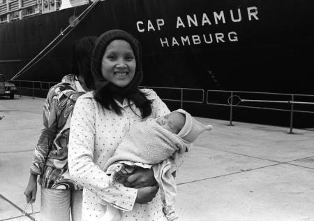 Bei der Rückkehr der »Cap Anamur« in den Hamburger Hafen