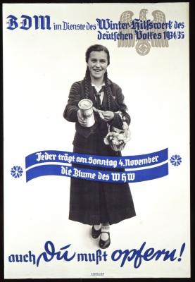 Plakat für die Sammlung des Winterhilfswerks