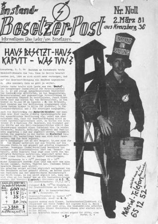 Titelseite der Nullnummer der »Instand-Besetzer-Post«