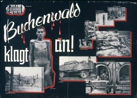 »Buchenwald klagt an!« KPD-Plakat, Unterbezirk Zwickau, Abt. Agitprop, ca. 1945/49.